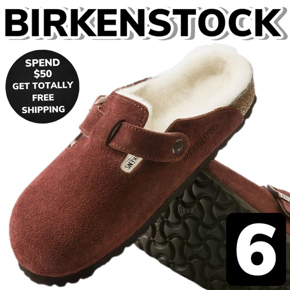 birkenstock boston shearling port